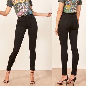 REFORMATION High & Skinny Jean black